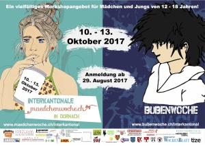 Plakat Mädchen- und Bubenwoche 2017